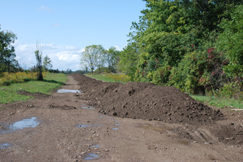 The Mysterious Mounds Of Earth On The Access Road